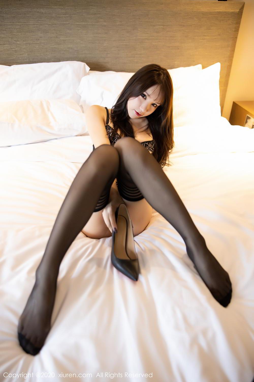 [XiuRen] Vol.2118 Zhou Yu Xi 73P, Black Silk, Tall, Underwear, Xiuren, Zhou Yu Xi