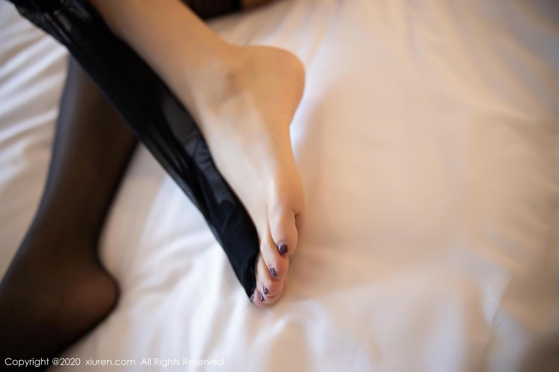 [XiuRen] Vol.2118 Zhou Yu Xi 80P, Black Silk, Tall, Underwear, Xiuren, Zhou Yu Xi