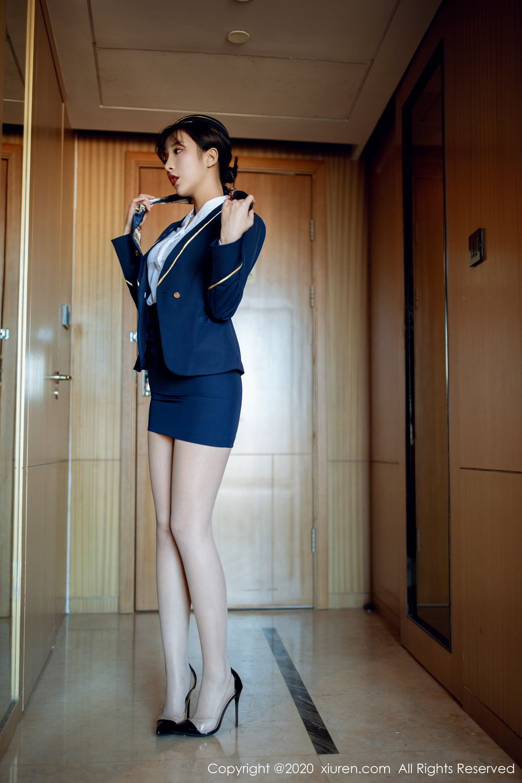 [XiuRen] Vol.2119 Chen Xiao Miao 10P, Chen Xiao Miao, Stewardess, Underwear, Uniform, Xiuren