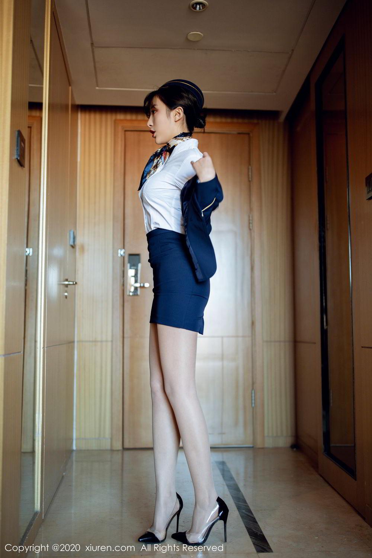 [XiuRen] Vol.2119 Chen Xiao Miao 12P, Chen Xiao Miao, Stewardess, Underwear, Uniform, Xiuren