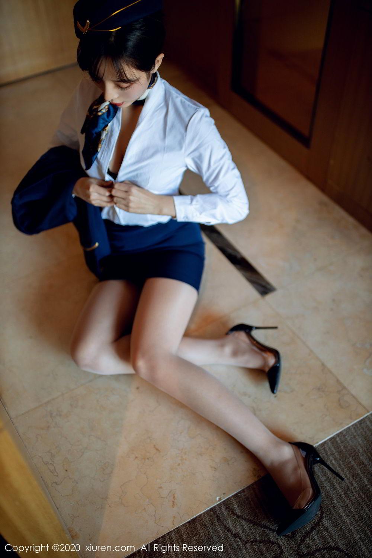 [XiuRen] Vol.2119 Chen Xiao Miao 15P, Chen Xiao Miao, Stewardess, Underwear, Uniform, Xiuren
