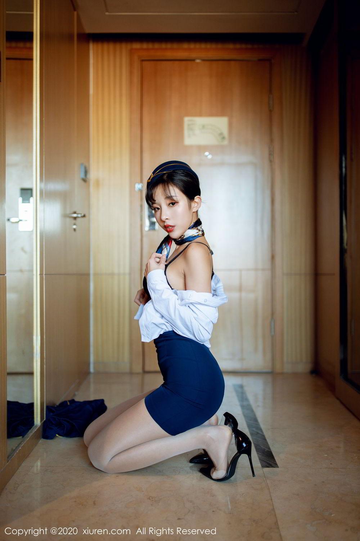 [XiuRen] Vol.2119 Chen Xiao Miao 18P, Chen Xiao Miao, Stewardess, Underwear, Uniform, Xiuren