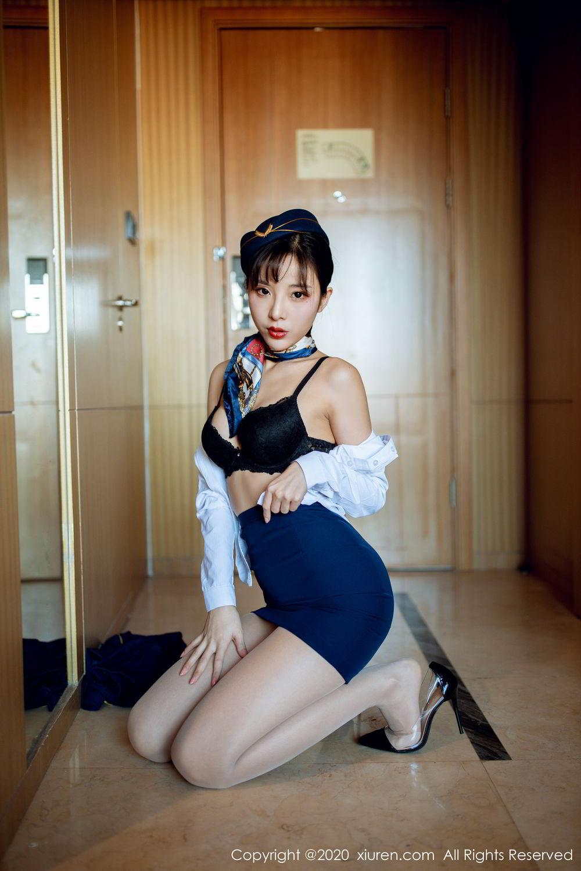 [XiuRen] Vol.2119 Chen Xiao Miao 19P, Chen Xiao Miao, Stewardess, Underwear, Uniform, Xiuren