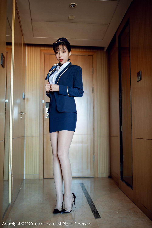 [XiuRen] Vol.2119 Chen Xiao Miao 1P, Chen Xiao Miao, Stewardess, Underwear, Uniform, Xiuren