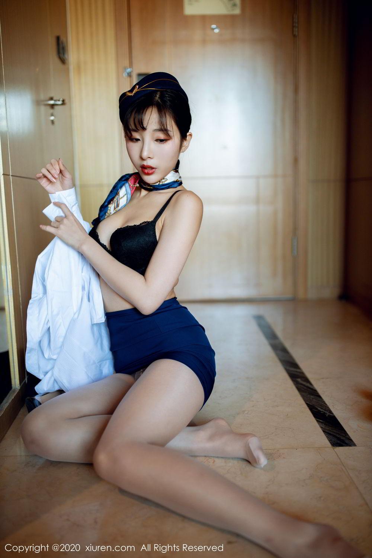 [XiuRen] Vol.2119 Chen Xiao Miao 20P, Chen Xiao Miao, Stewardess, Underwear, Uniform, Xiuren