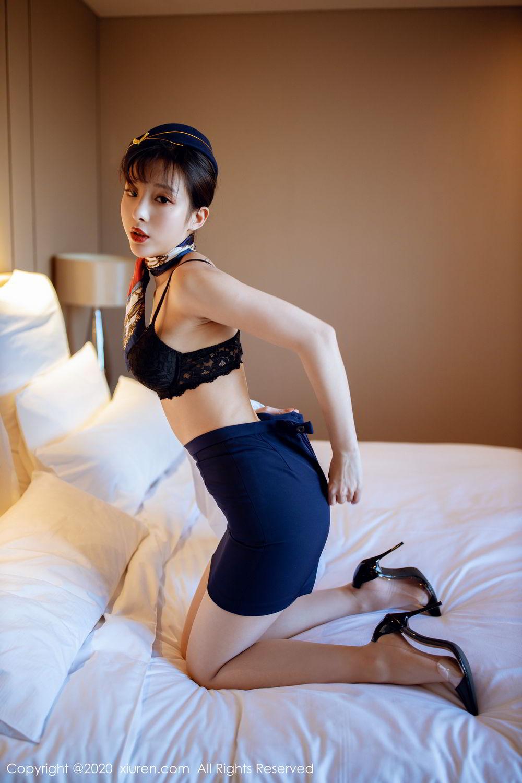 [XiuRen] Vol.2119 Chen Xiao Miao 29P, Chen Xiao Miao, Stewardess, Underwear, Uniform, Xiuren