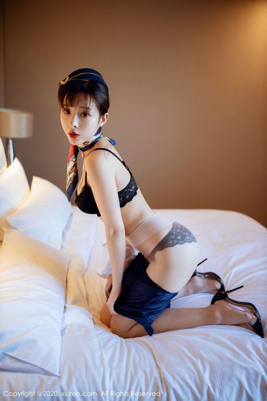 [XiuRen] Vol.2119 Chen Xiao Miao 31P, Chen Xiao Miao, Stewardess, Underwear, Uniform, Xiuren