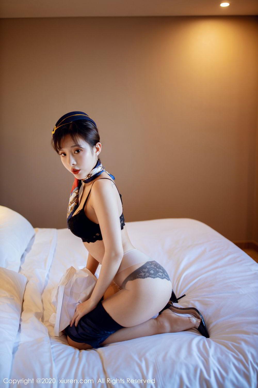 [XiuRen] Vol.2119 Chen Xiao Miao 32P, Chen Xiao Miao, Stewardess, Underwear, Uniform, Xiuren
