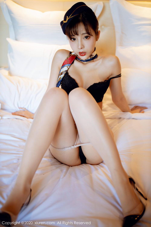 [XiuRen] Vol.2119 Chen Xiao Miao 39P, Chen Xiao Miao, Stewardess, Underwear, Uniform, Xiuren