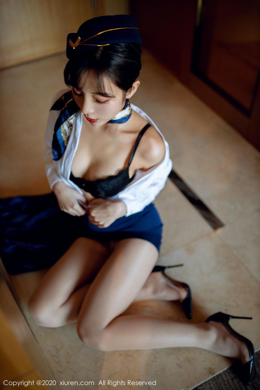 [XiuRen] Vol.2119 Chen Xiao Miao 3P, Chen Xiao Miao, Stewardess, Underwear, Uniform, Xiuren