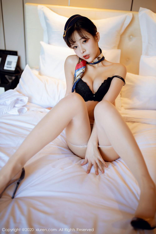 [XiuRen] Vol.2119 Chen Xiao Miao 40P, Chen Xiao Miao, Stewardess, Underwear, Uniform, Xiuren