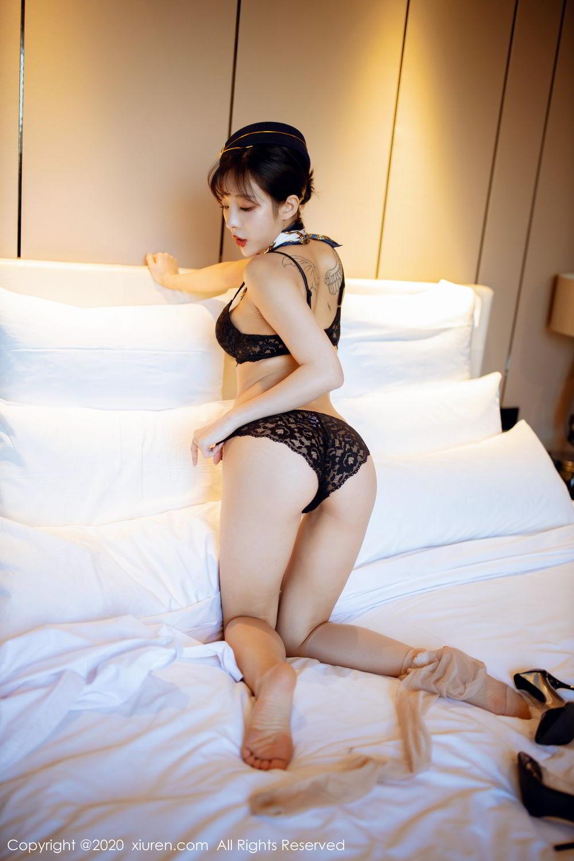 [XiuRen] Vol.2119 Chen Xiao Miao 51P, Chen Xiao Miao, Stewardess, Underwear, Uniform, Xiuren