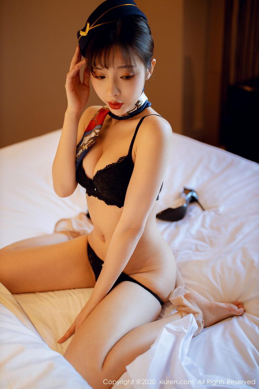 [XiuRen] Vol.2119 Chen Xiao Miao 58P, Chen Xiao Miao, Stewardess, Underwear, Uniform, Xiuren