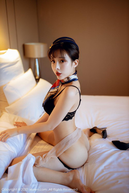 [XiuRen] Vol.2119 Chen Xiao Miao 5P, Chen Xiao Miao, Stewardess, Underwear, Uniform, Xiuren