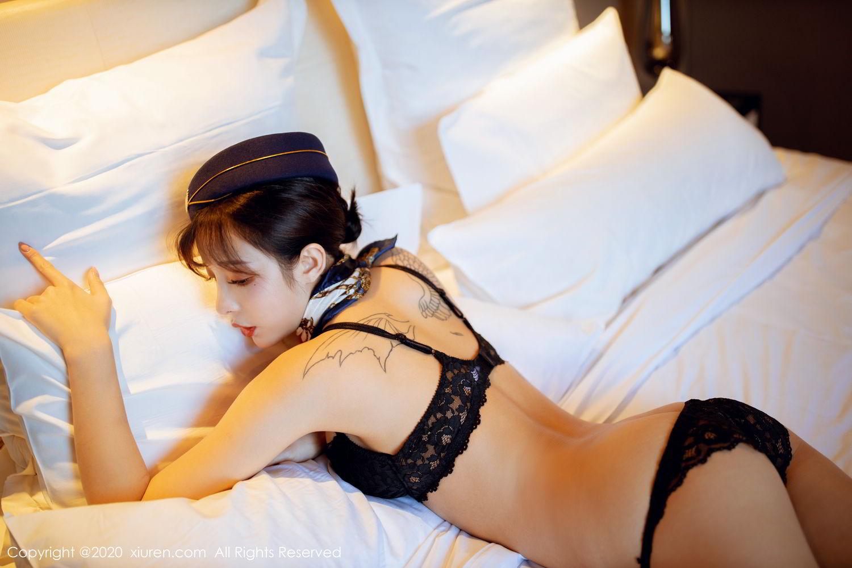 [XiuRen] Vol.2119 Chen Xiao Miao 63P, Chen Xiao Miao, Stewardess, Underwear, Uniform, Xiuren