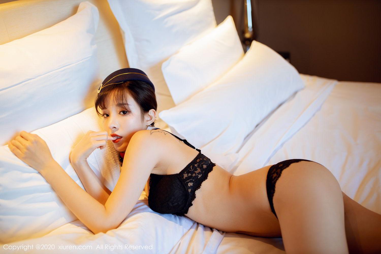 [XiuRen] Vol.2119 Chen Xiao Miao 66P, Chen Xiao Miao, Stewardess, Underwear, Uniform, Xiuren