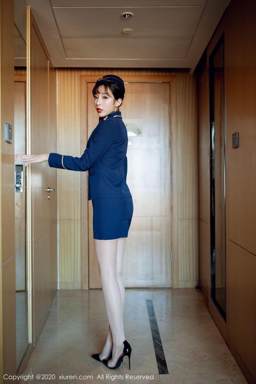 [XiuRen] Vol.2119 Chen Xiao Miao 6P, Chen Xiao Miao, Stewardess, Underwear, Uniform, Xiuren