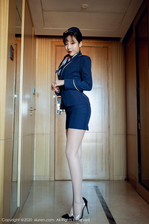 [XiuRen] Vol.2119 Chen Xiao Miao 7P, Chen Xiao Miao, Stewardess, Underwear, Uniform, Xiuren