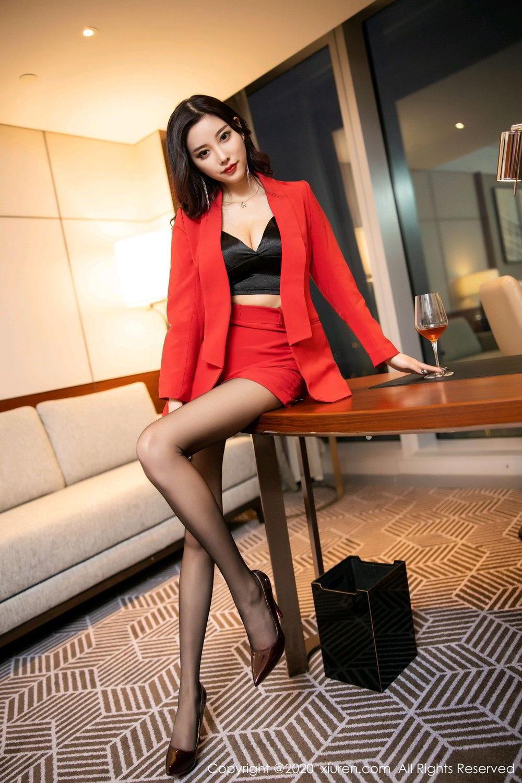 [XiuRen] Vol.2122 Yang Chen Chen 10P, Black Silk, Uniform, Xiuren, Yang Chen Chen