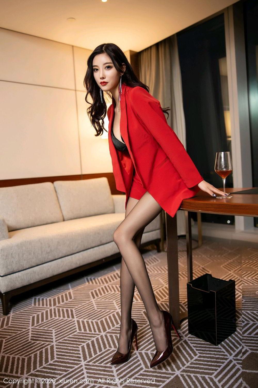 [XiuRen] Vol.2122 Yang Chen Chen 11P, Black Silk, Uniform, Xiuren, Yang Chen Chen