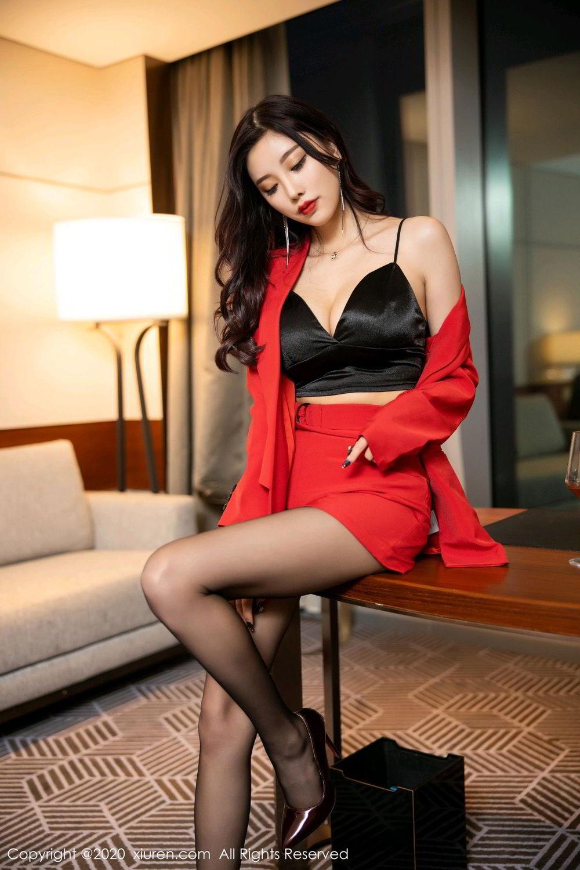 [XiuRen] Vol.2122 Yang Chen Chen 12P, Black Silk, Uniform, Xiuren, Yang Chen Chen