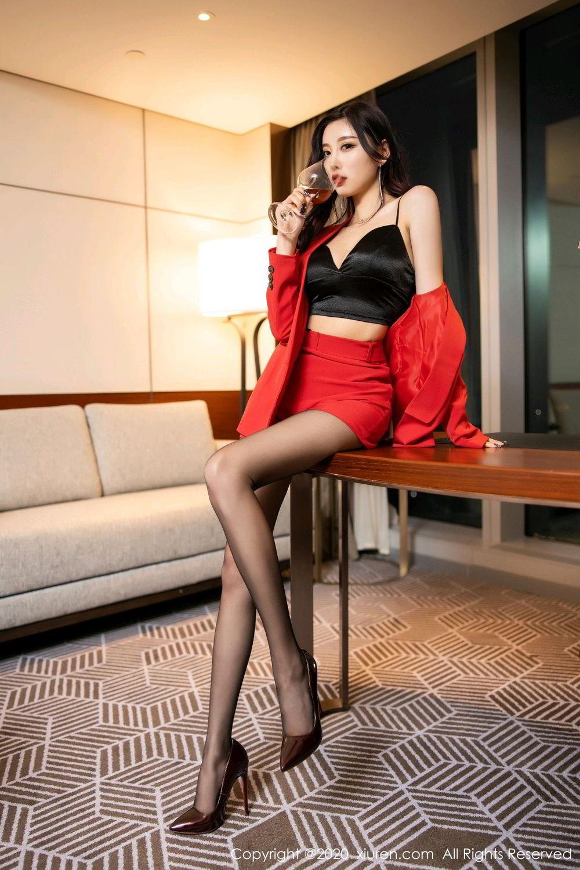 [XiuRen] Vol.2122 Yang Chen Chen 13P, Black Silk, Uniform, Xiuren, Yang Chen Chen