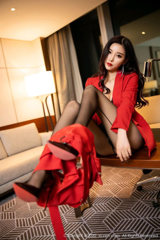 [XiuRen] Vol.2122 Yang Chen Chen 2P, Black Silk, Uniform, Xiuren, Yang Chen Chen