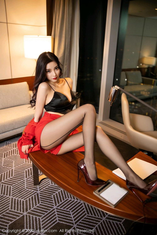 [XiuRen] Vol.2122 Yang Chen Chen 30P, Black Silk, Uniform, Xiuren, Yang Chen Chen