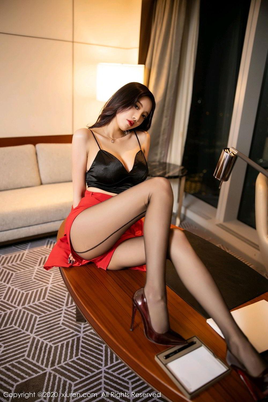 [XiuRen] Vol.2122 Yang Chen Chen 31P, Black Silk, Uniform, Xiuren, Yang Chen Chen