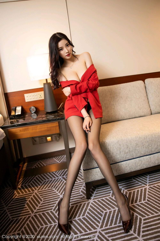 [XiuRen] Vol.2122 Yang Chen Chen 3P, Black Silk, Uniform, Xiuren, Yang Chen Chen