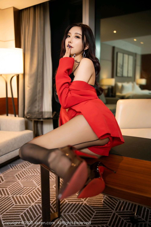 [XiuRen] Vol.2122 Yang Chen Chen 40P, Black Silk, Uniform, Xiuren, Yang Chen Chen