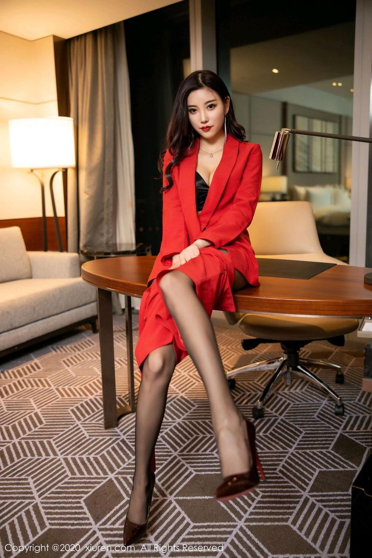 [XiuRen] Vol.2122 Yang Chen Chen 42P, Black Silk, Uniform, Xiuren, Yang Chen Chen