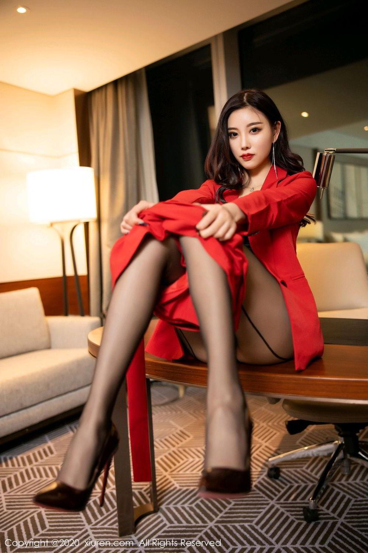 [XiuRen] Vol.2122 Yang Chen Chen 43P, Black Silk, Uniform, Xiuren, Yang Chen Chen