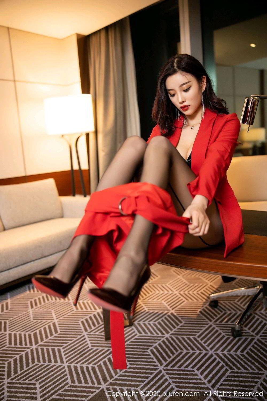 [XiuRen] Vol.2122 Yang Chen Chen 44P, Black Silk, Uniform, Xiuren, Yang Chen Chen
