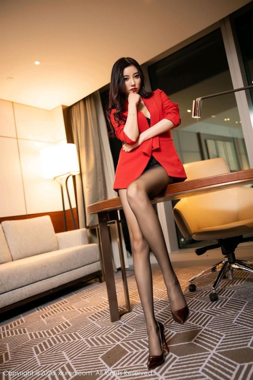[XiuRen] Vol.2122 Yang Chen Chen 46P, Black Silk, Uniform, Xiuren, Yang Chen Chen