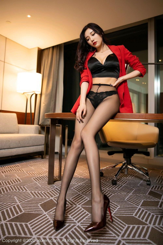 [XiuRen] Vol.2122 Yang Chen Chen 48P, Black Silk, Uniform, Xiuren, Yang Chen Chen
