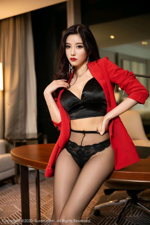 [XiuRen] Vol.2122 Yang Chen Chen 49P, Black Silk, Uniform, Xiuren, Yang Chen Chen