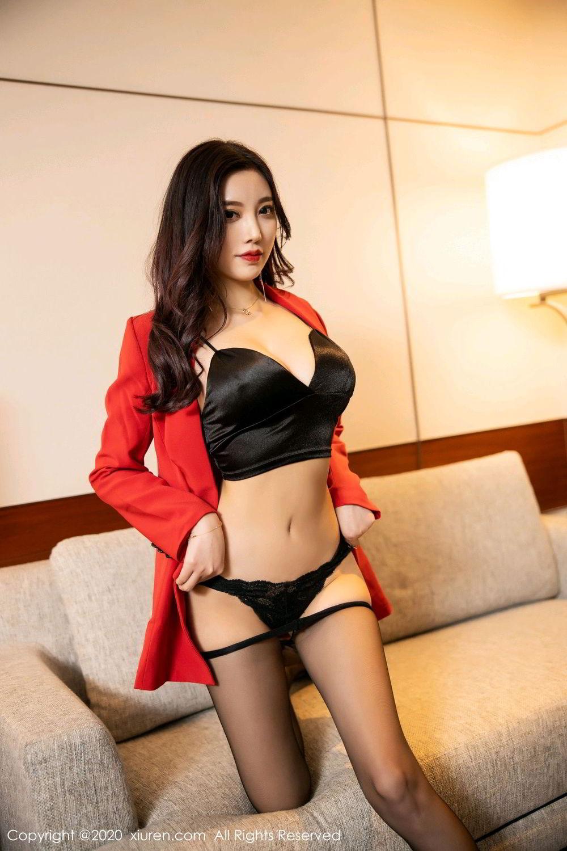 [XiuRen] Vol.2122 Yang Chen Chen 62P, Black Silk, Uniform, Xiuren, Yang Chen Chen