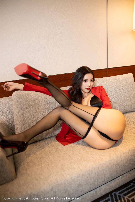 [XiuRen] Vol.2122 Yang Chen Chen 65P, Black Silk, Uniform, Xiuren, Yang Chen Chen