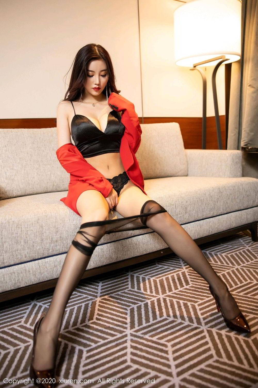 [XiuRen] Vol.2122 Yang Chen Chen 68P, Black Silk, Uniform, Xiuren, Yang Chen Chen