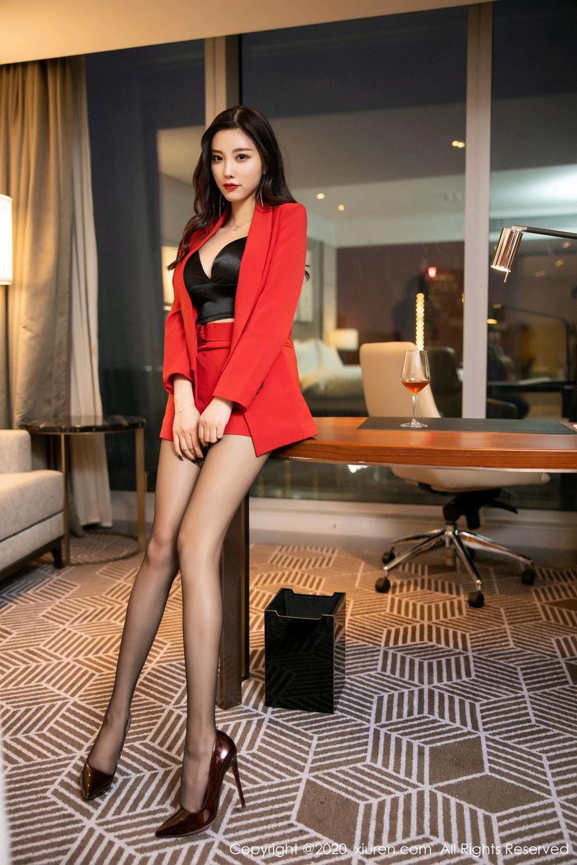 [XiuRen] Vol.2122 Yang Chen Chen 6P, Black Silk, Uniform, Xiuren, Yang Chen Chen