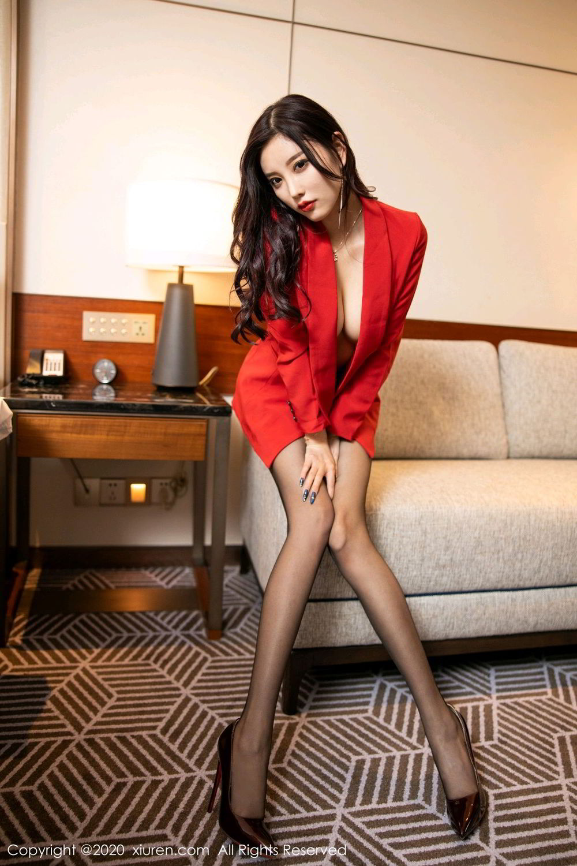 [XiuRen] Vol.2122 Yang Chen Chen 73P, Black Silk, Uniform, Xiuren, Yang Chen Chen