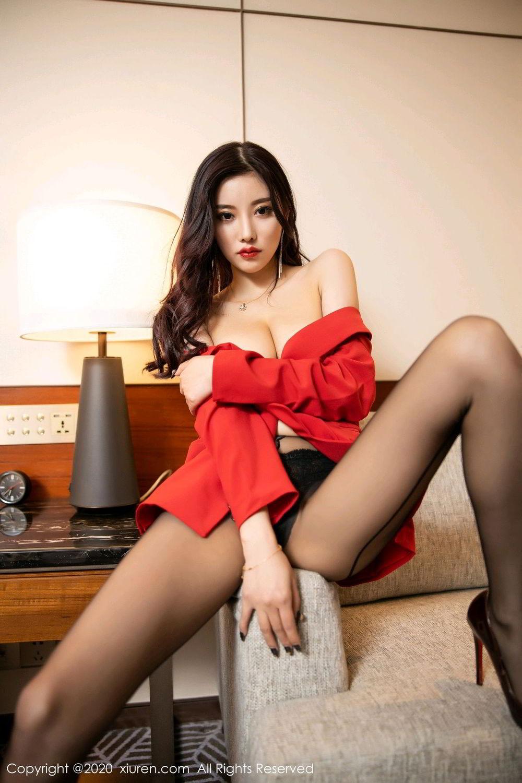 [XiuRen] Vol.2122 Yang Chen Chen 82P, Black Silk, Uniform, Xiuren, Yang Chen Chen