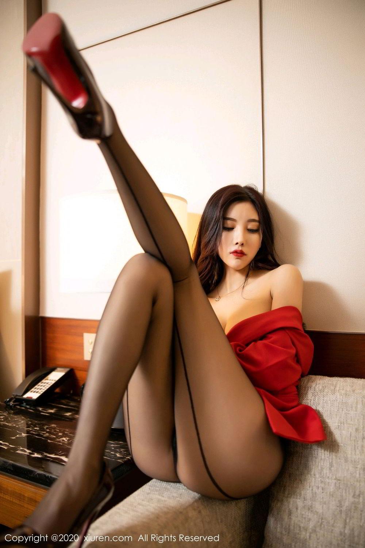 [XiuRen] Vol.2122 Yang Chen Chen 86P, Black Silk, Uniform, Xiuren, Yang Chen Chen