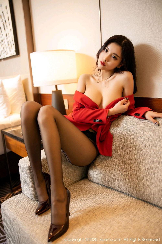 [XiuRen] Vol.2122 Yang Chen Chen 89P, Black Silk, Uniform, Xiuren, Yang Chen Chen