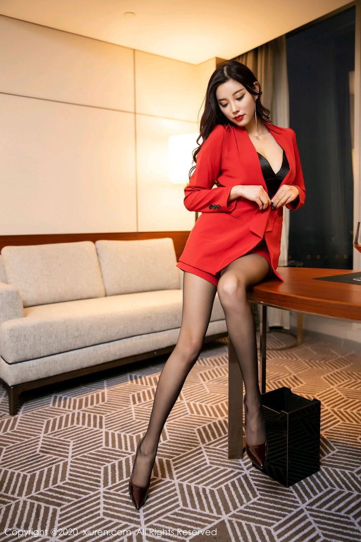 [XiuRen] Vol.2122 Yang Chen Chen 8P, Black Silk, Uniform, Xiuren, Yang Chen Chen