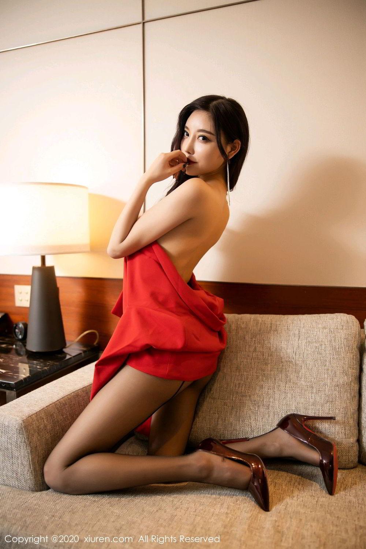 [XiuRen] Vol.2122 Yang Chen Chen 97P, Black Silk, Uniform, Xiuren, Yang Chen Chen