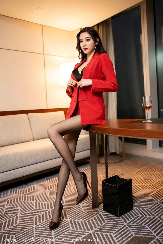 [XiuRen] Vol.2122 Yang Chen Chen 9P, Black Silk, Uniform, Xiuren, Yang Chen Chen