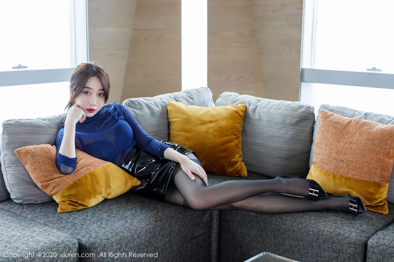 [XiuRen] Vol.2129 Xiao Jiu Yue 17P, Black Silk, Foot, Underwear, Xiao Jiu Yue, Xiuren