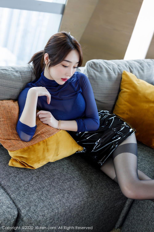 [XiuRen] Vol.2129 Xiao Jiu Yue 21P, Black Silk, Foot, Underwear, Xiao Jiu Yue, Xiuren